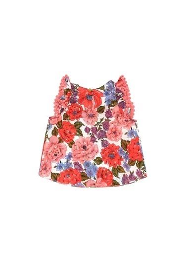 Zimmermann Zimmermann Colorblocked Çiçek Desenli Kız Çocuk Bluz 101600362 Renkli